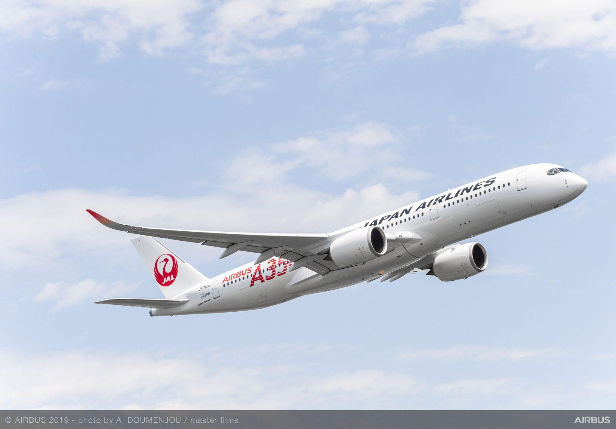 Japan Airlines recibe su primer A350 XWB