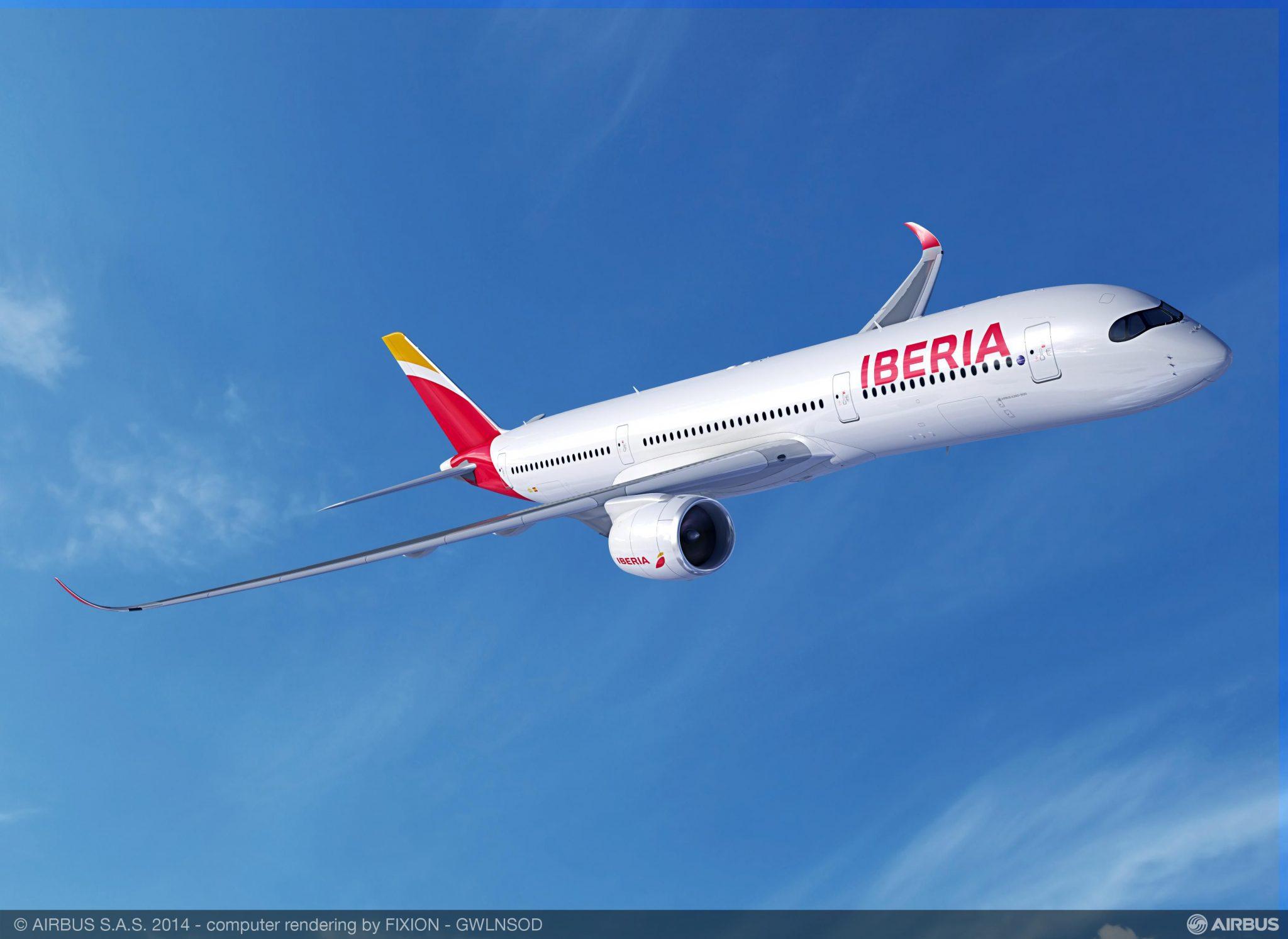 Iberia mejora el servicio a Chile incorporando el Airbus A350-900