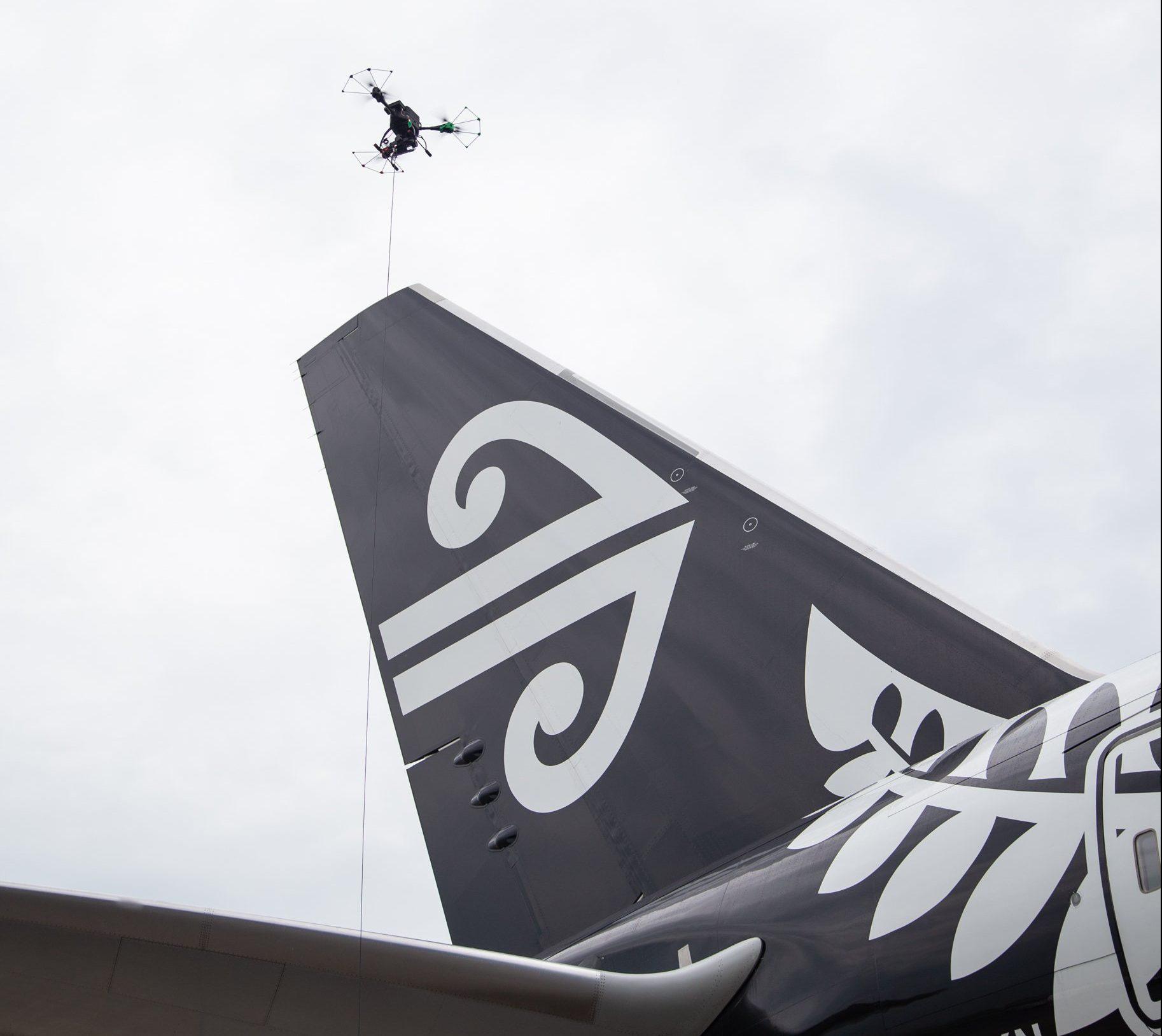 Air New Zealand usa drones para inspeccionar sus aviones