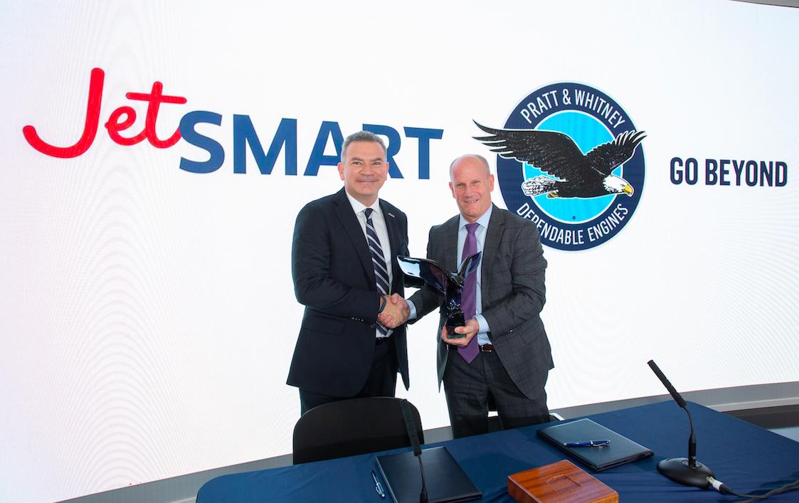 JetSMART compra motores para 85 aviones al reconocido fabricante Pratt & Whitney para su flota de A320neo