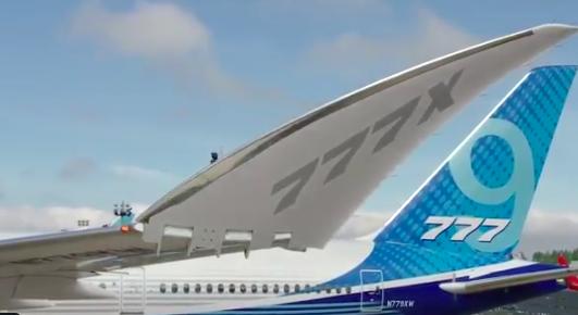 Así se pliegan las alas del B777X