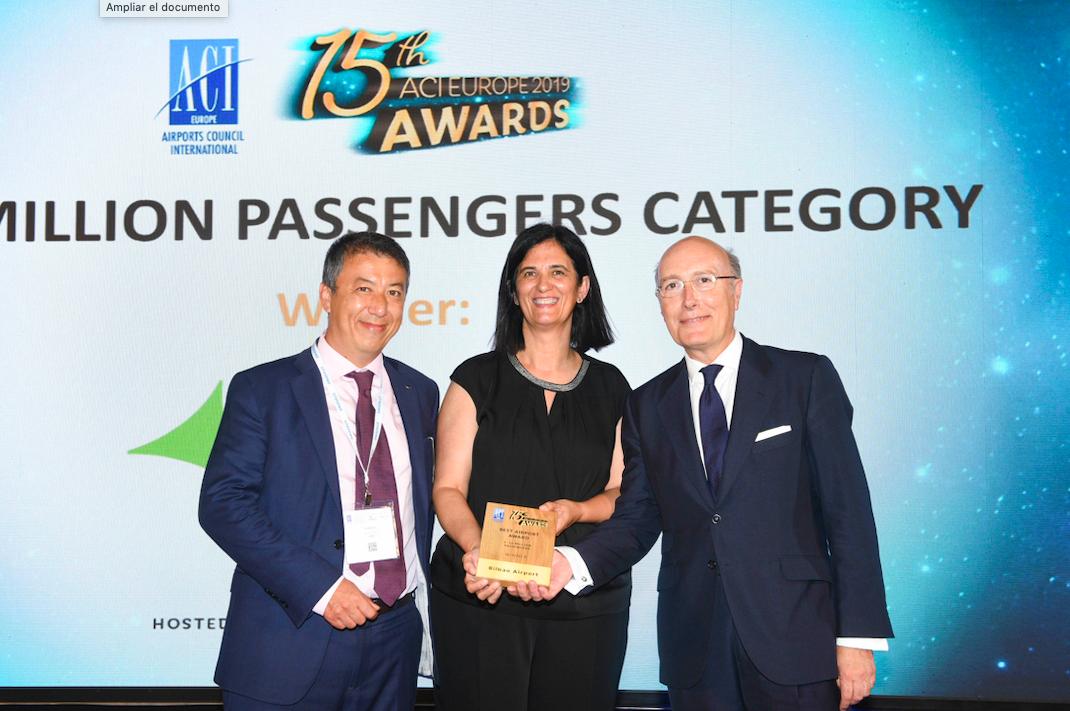 ACI otorga al aeropuerto de Bilbao el Premio al Mejor Aeropuerto de Europa