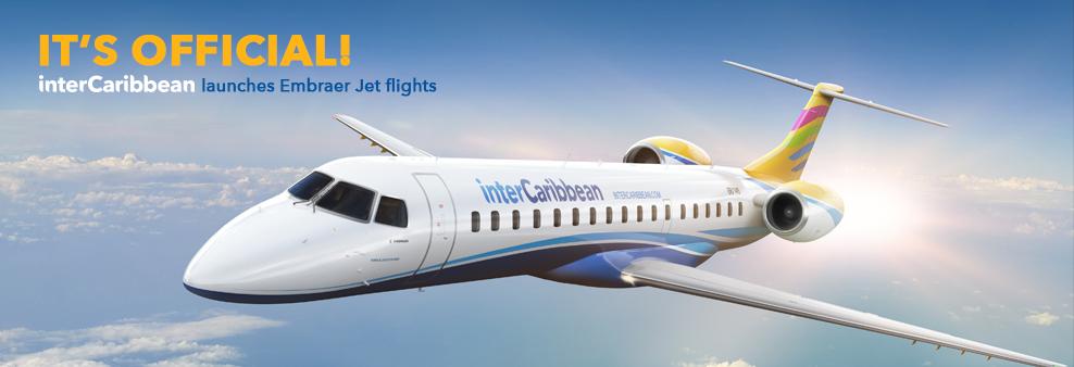 Intercaribbean Airways estrena este martes su Embraer ERJ145 desde el Aerop. de Las Américas