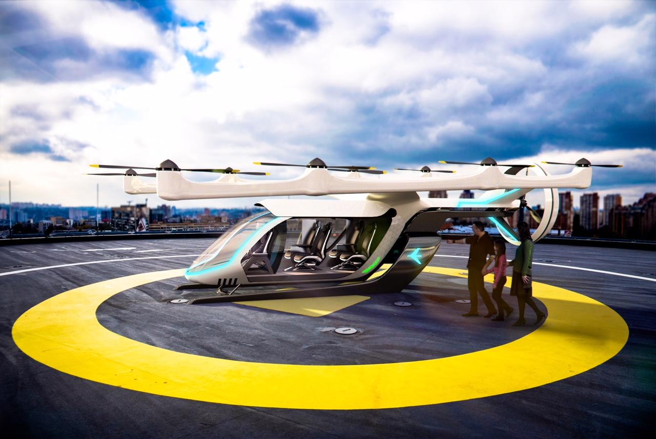 EmbraerX presenta su modelo de taxi volador