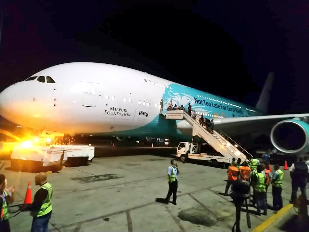 Venezuela: El avión más grande del mundo aterrizó en el Aeropuerto Simón Bolívar