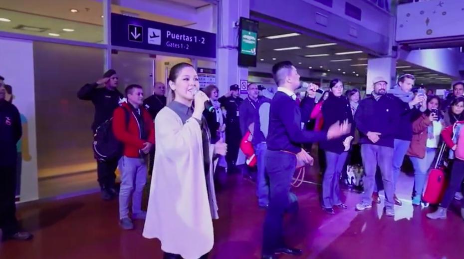 El sorpresivo flashmob en el Aeropuerto de Tucumán por el Día de la Independencia