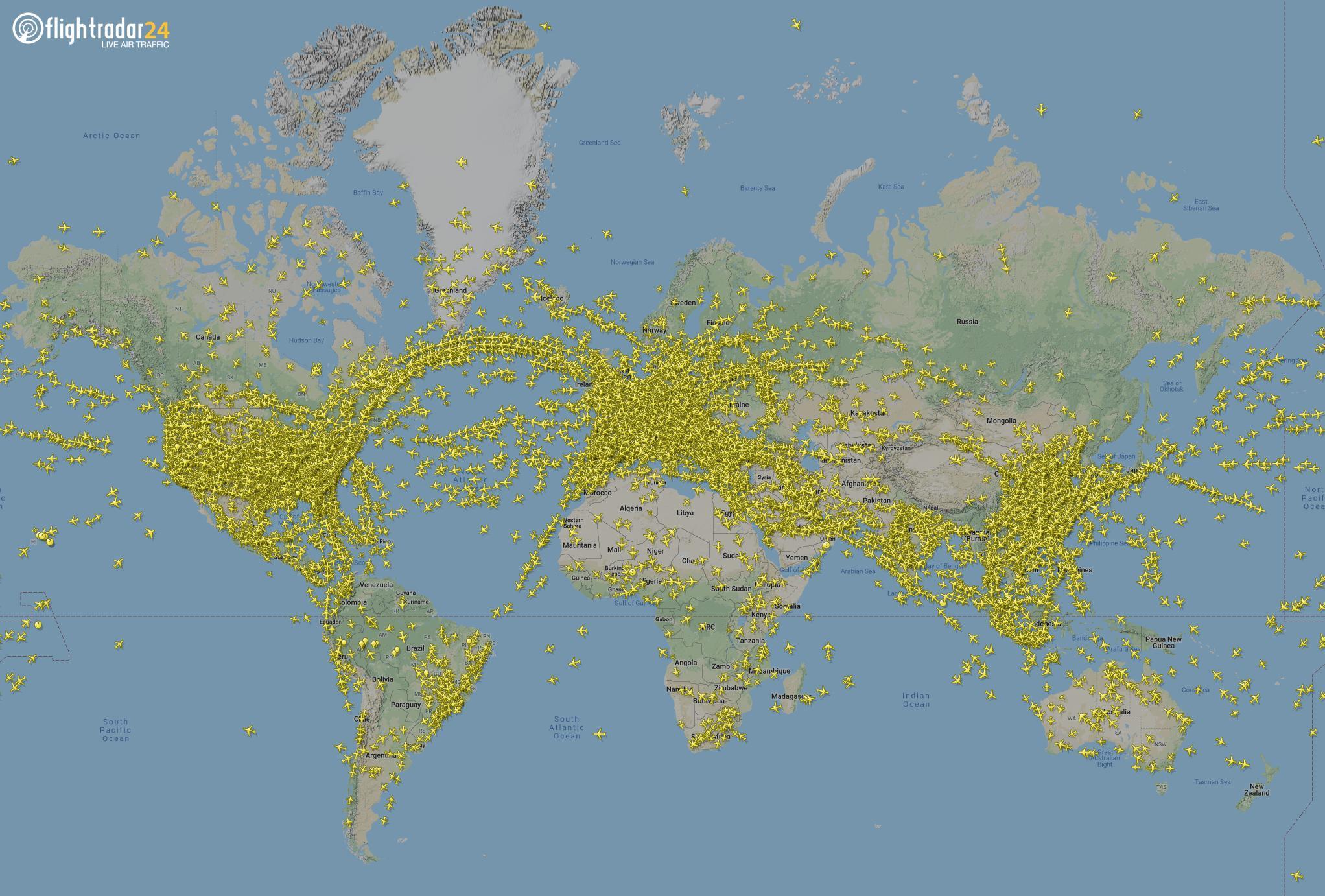 Nuevo récord de vuelos registrados en un sólo día en todo el planeta, se batió la pasada semana no una, sino dos veces