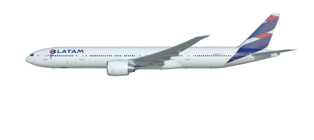 Primeiro Boeing 777 da Latam com novas cabines inicia operações