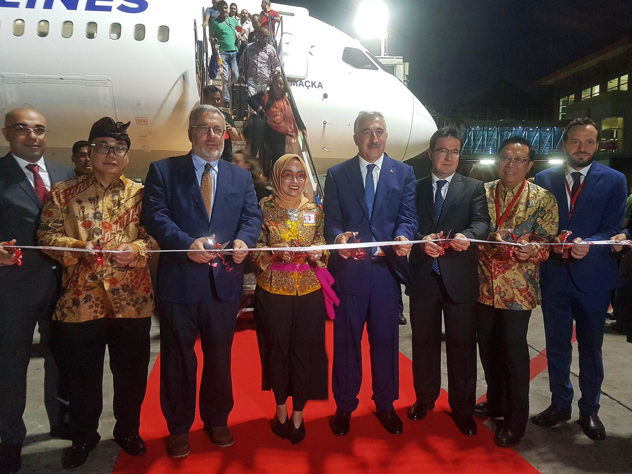 Turkish Airlines inaugura sus vuelos a Bali, Indonesia