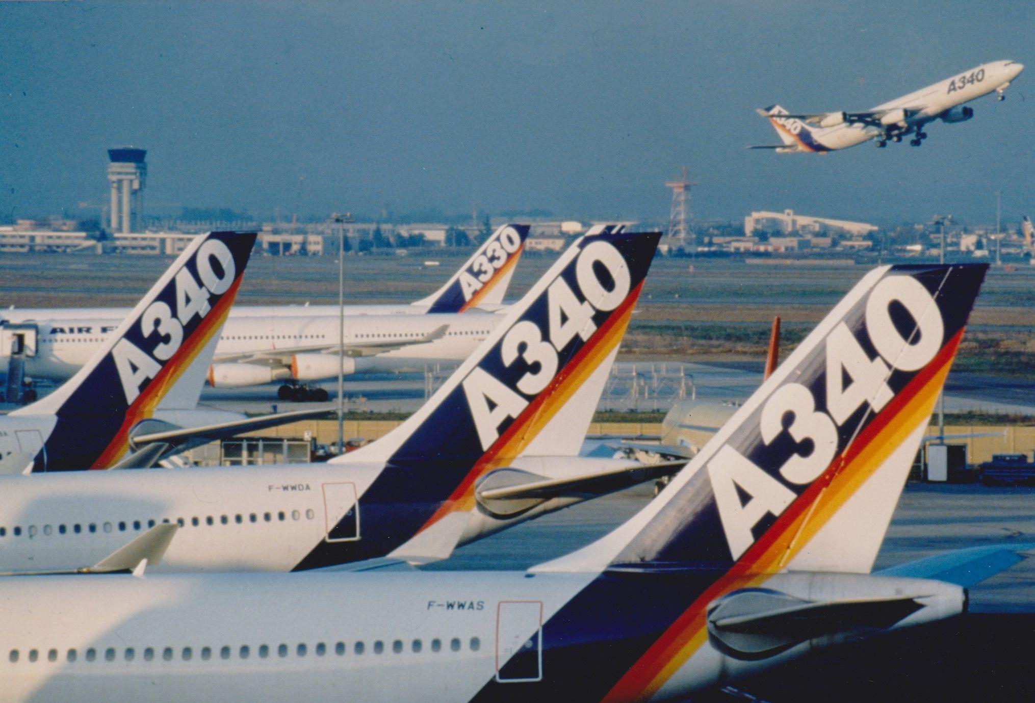 La lenta jubilación de los Airbus A340