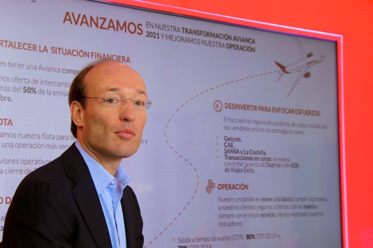 Nuevo presidente de Avianca apuesta a fortalecer situación financiera y mejorar relación con clientes