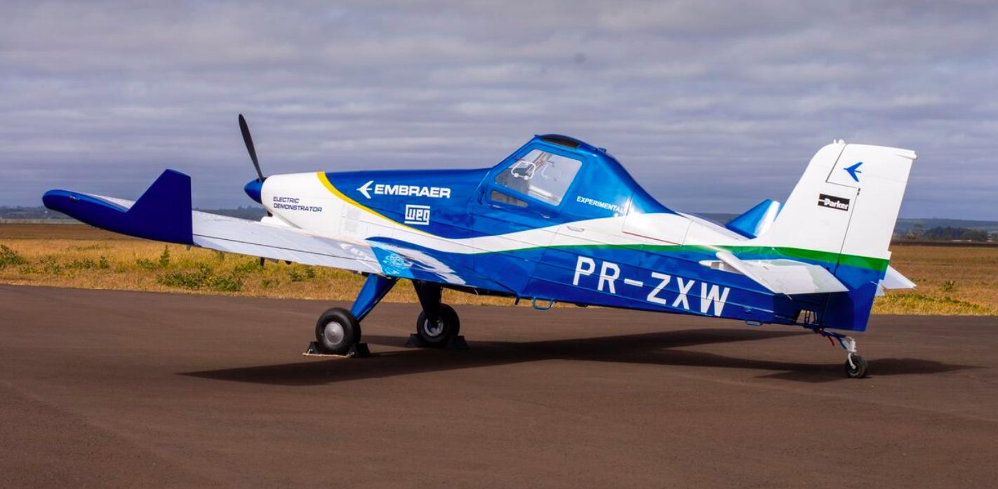 Embraer muestra su prototipo de avión con propulsión eléctrica