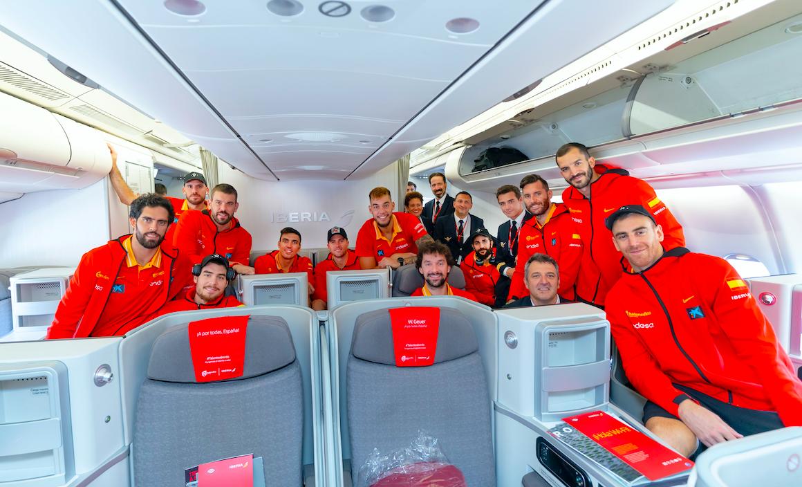 Aerolínea sorprendió a la Selección Española de Baloncesto en el vuelo a Shanghái