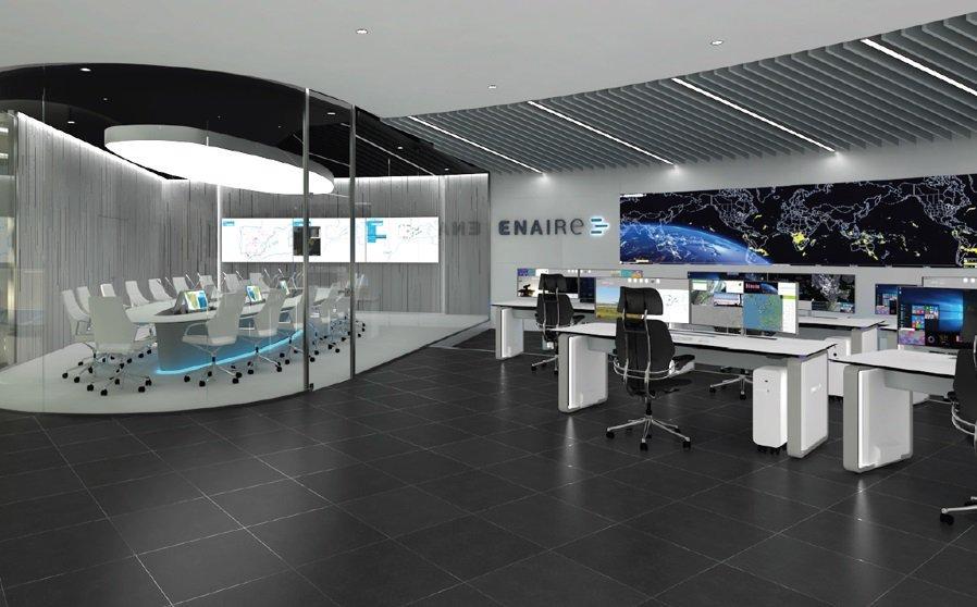 El descenso del volumen de vuelos gestionados por Enaire se frenó en marzo, con una reducción del 53,8%