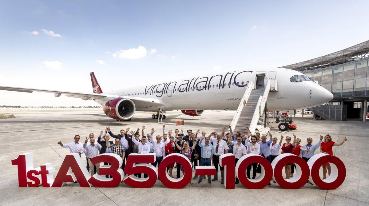 Virgin Atlantic takes first A350-1000 for London-New York route