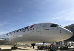 Air France recibió su primer Airbus A350 en Toulouse
