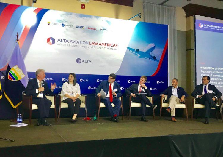 Más de 150 representantes de la industria aérea se reunieron  en el ALTA Aviation Law Americas en Quito