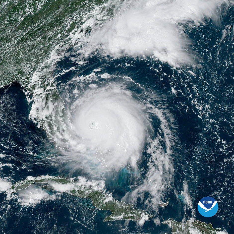 Tras el paso del huracán Dorian, aeropuerto de Freeport terminó bajo el agua