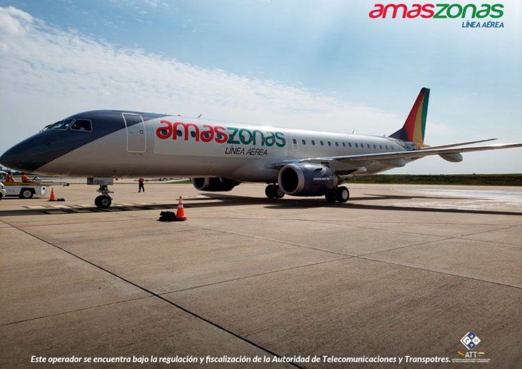 Amaszonas Uruguay aumenta a 10 los vuelos semanales Montevideo-Asunción