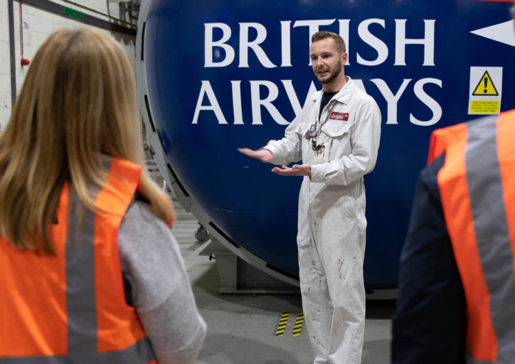 British Airways opens hangar doors to future generation of engineering to celebrate National Work Experience month