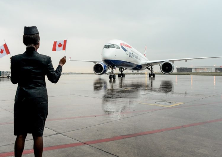 Touch down in Toronto: British Airways' new A350 arrives