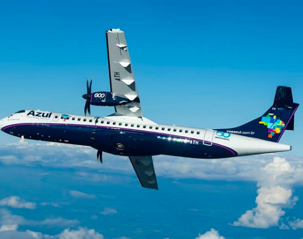 Com ATR 72-600, Azul vai operar 16 voos diários em Congonhas