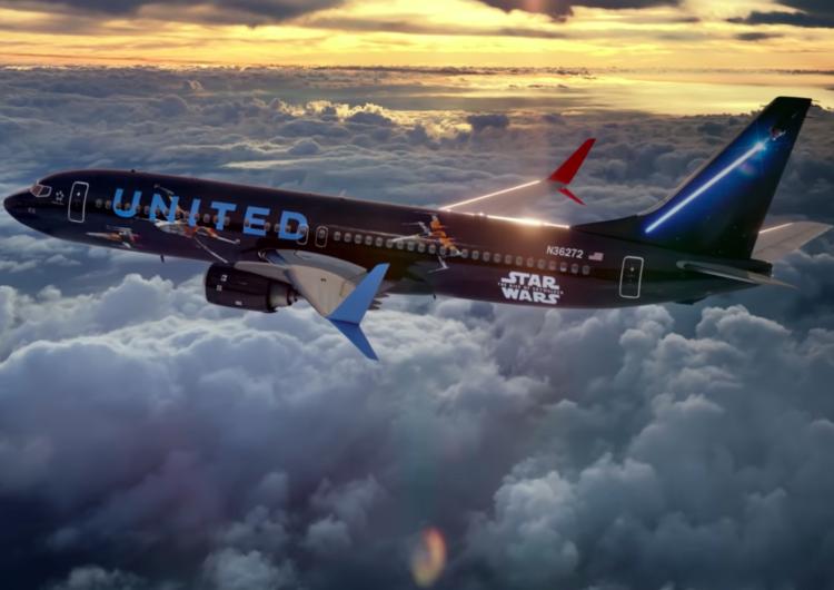"United Airlines revela el nuevo livery de ""Star Wars: The Rise of Skywalker"""