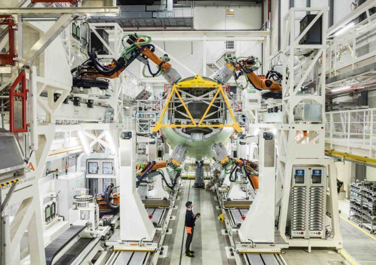 Airbus inaugura línea de montaje de estructuras altamente automatizada para el A320