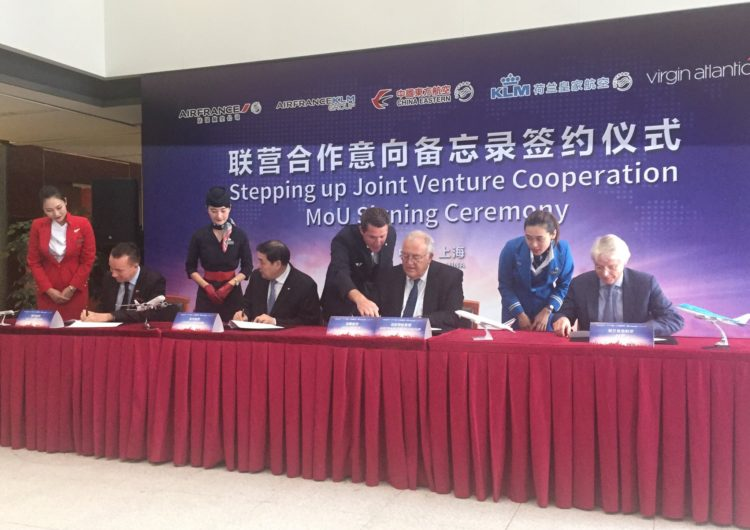 Virgin Atlantic se une a la joint venture de Air France-KLM y China Eastern