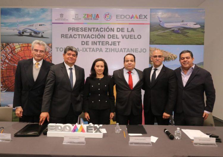 Presentan EDOMÉX e Interjet ruta aérea Toluca-Ixtapa Zihuatanejo