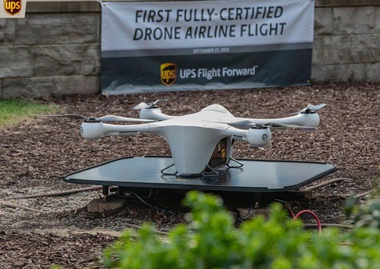 UPS se certifica como la primera aerolínea de drones