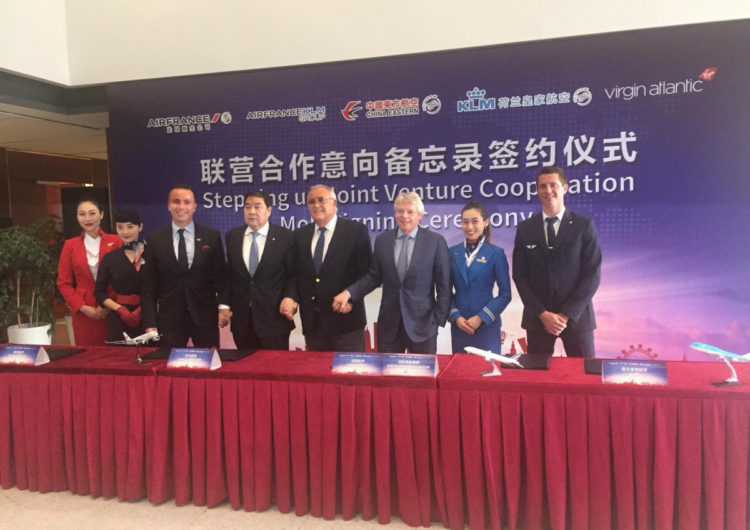 Air France, KLM and China Eastern announce plans to step up joint venture cooperation with the addition of Virgin Atlantic