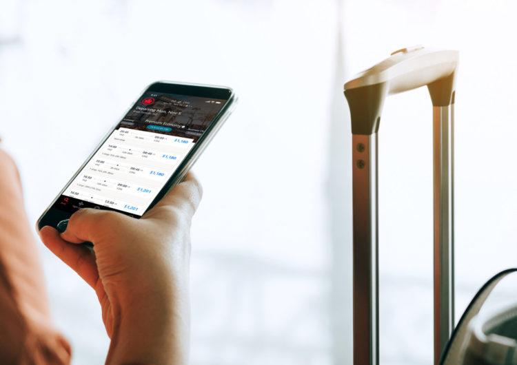 Air Canada simplifica la experiencia de vuelo gracias a su nueva aplicación móvil