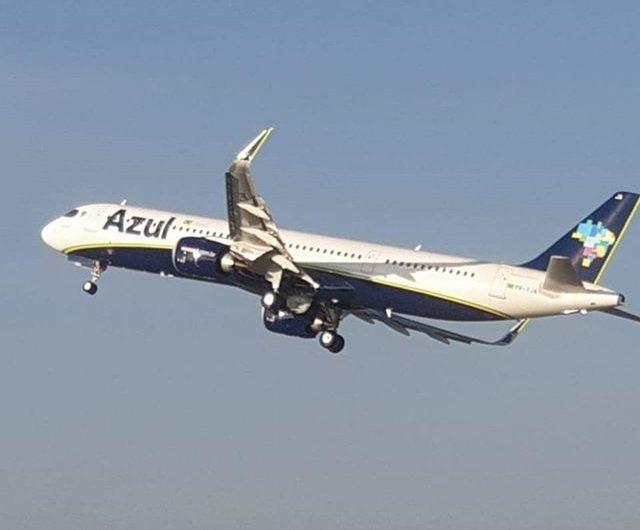 Azul recibe el primer Airbus A321neo de Brasil