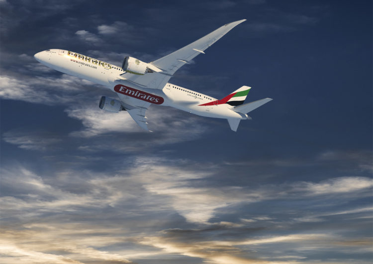 Emirates Orders 30 Boeing 787 Dreamliner Airplanes to Complement 777X family
