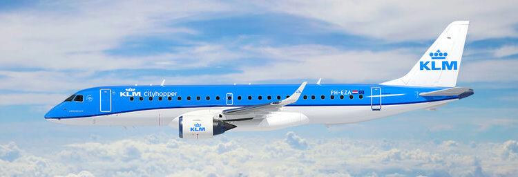 KLM Cityhopper encarga 21 aviones a Embraer