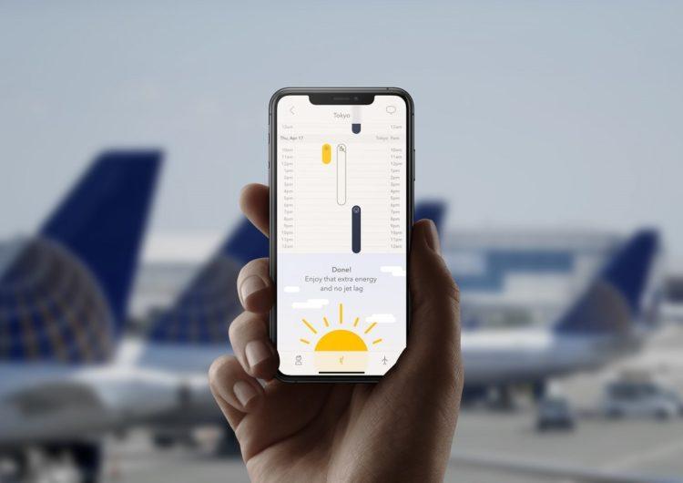 United ofrece a sus pasajeros una App para combatir el jet lag