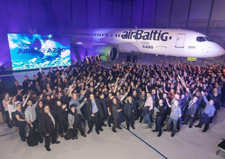 Airbus entrega el avión A220 número 100