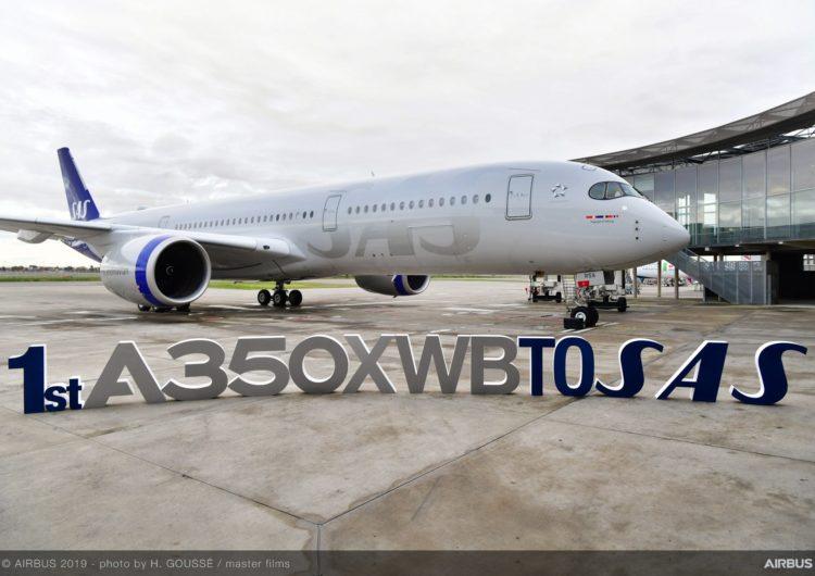 SAS recibe su primer A350 XWB