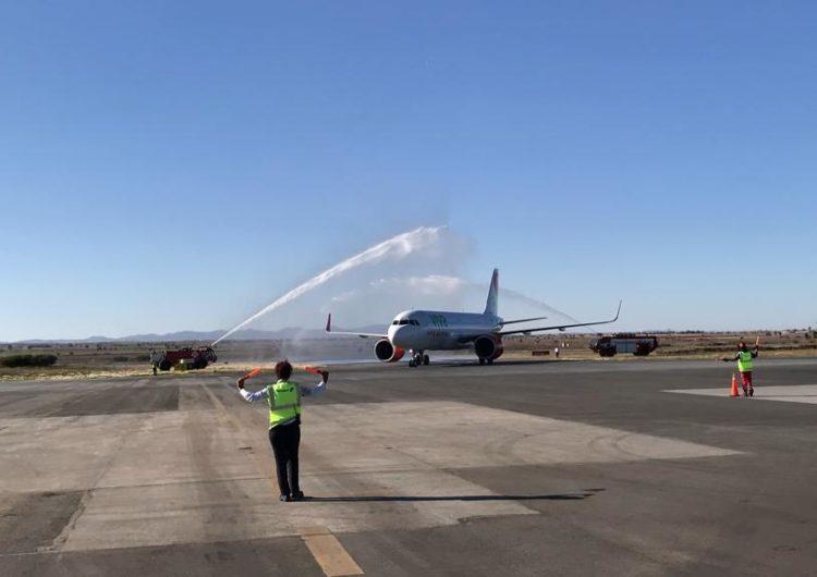 Llegó a Zacatecas el primer vuelo de Viva Aerobus procedente de Chicago