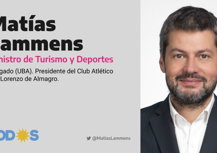 Matías Lammens, nuevo ministro de Turismo y Deporte de Argentina