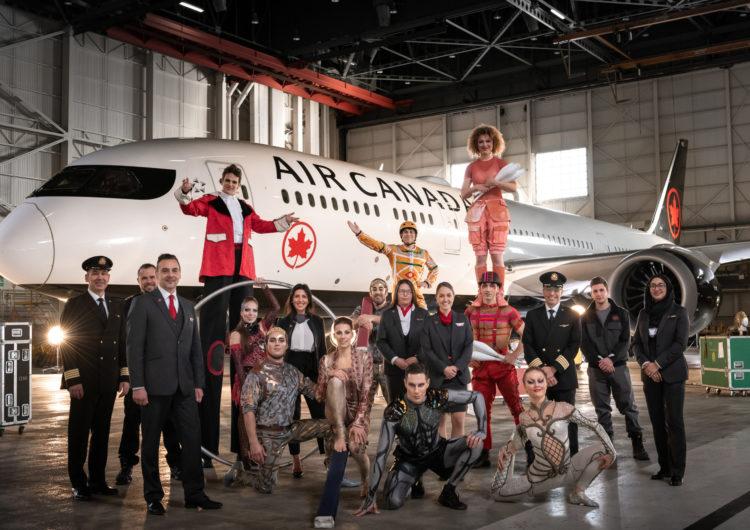 Air Canada y Cirque du Soleil se unen en una asociación internacional
