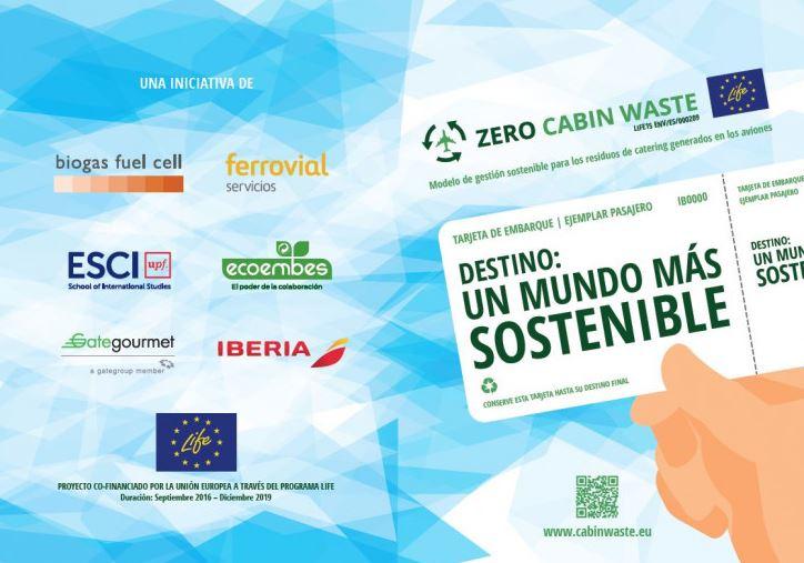 Más de 2.250 toneladas de envases se reciclaron en los vuelos de Iberia, gracias al proyecto Zero Cabin Waste en 2019