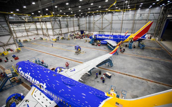 Southwest Airlines inaugura su mayor hangar de mantenimiento