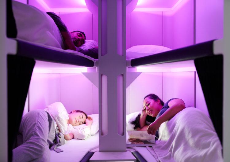 Air New Zealand propone un diseño de literas para la clase turista
