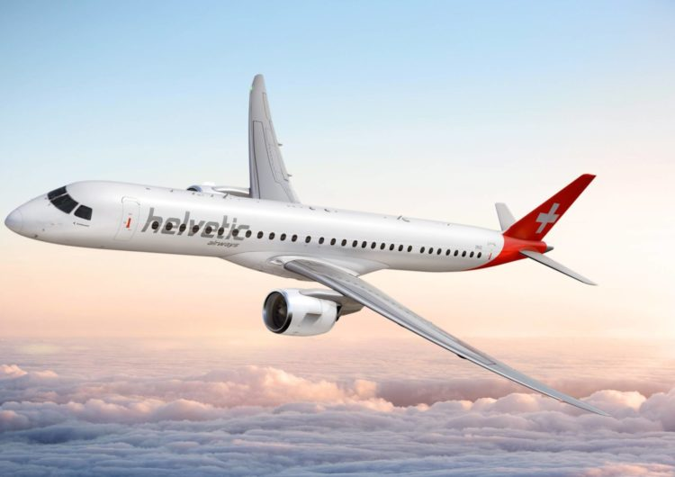 Helvetic Airways recibe su tercer Embraer E190-E2