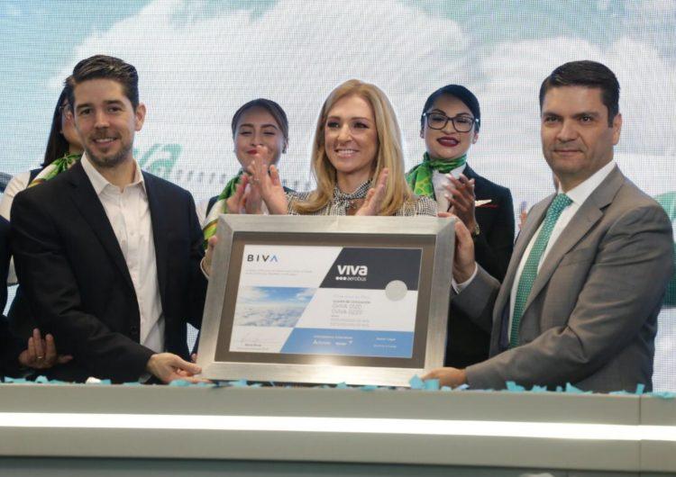 """Viva Aerobus celebra el grito """"Viva en BIVA"""" por colocación de 250 mdp en bonos a corto plazo"""