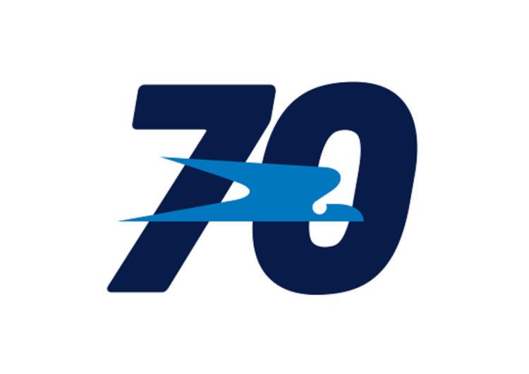 Aerolíneas Argentinas presentó su logo aniversario por sus 70 años