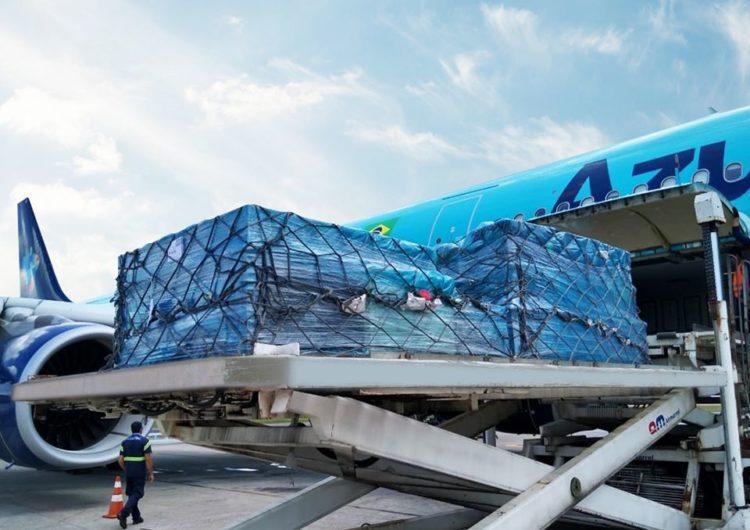 Azul realiza o transporte de quatro toneladas de equipamentos médicos para a criação de hospital que ajudará no combate ao COVID-19 em Campinas