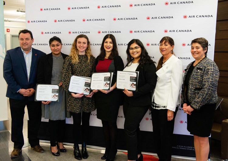 Air Canada reconoció logros y contribuciones de las mujeres otorgando becas para estudios de aviación